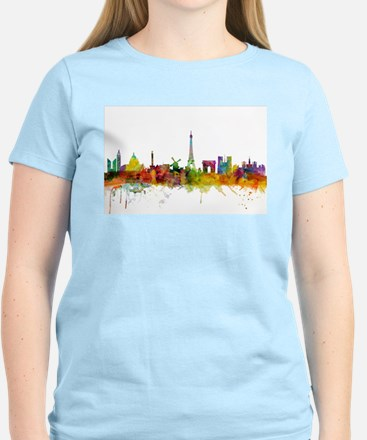 Paris France Skyline T-Shirt