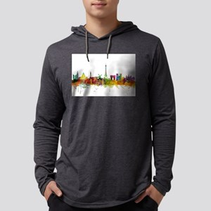 Paris France Skyline Long Sleeve T-Shirt
