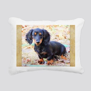Puppy Love Doxie Rectangular Canvas Pillow