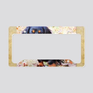 Puppy Love Doxie License Plate Holder
