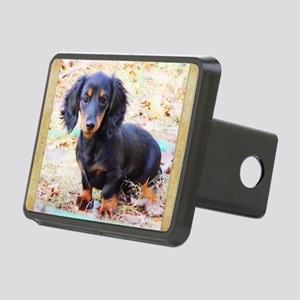 Puppy Love Doxie Rectangular Hitch Cover