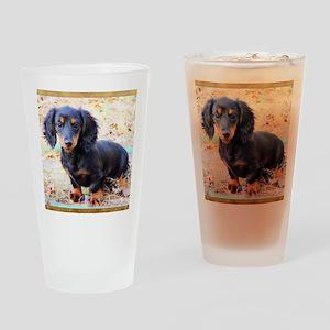 Puppy Love Doxie Drinking Glass