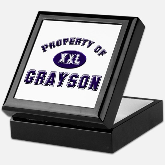 Property of grayson Keepsake Box