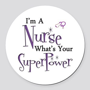 Super nurse copy Round Car Magnet