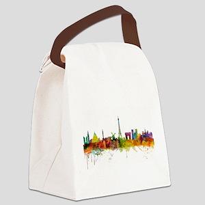 Paris France Skyline Canvas Lunch Bag