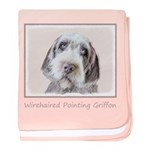 Wirehaired Pointing Griffon baby blanket