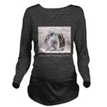 Wirehaired Pointing Long Sleeve Maternity T-Shirt
