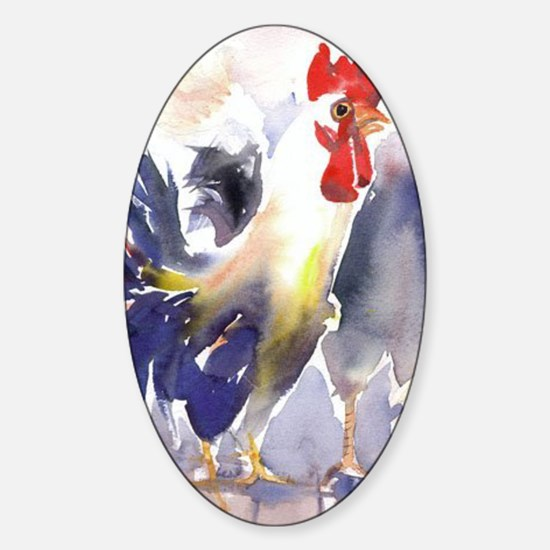1rooster2800s Sticker (Oval)