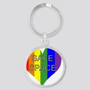 safe space left Round Keychain