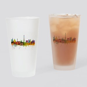 Paris France Skyline Drinking Glass