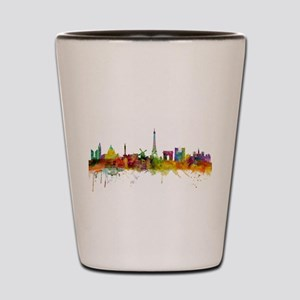 Paris France Skyline Shot Glass