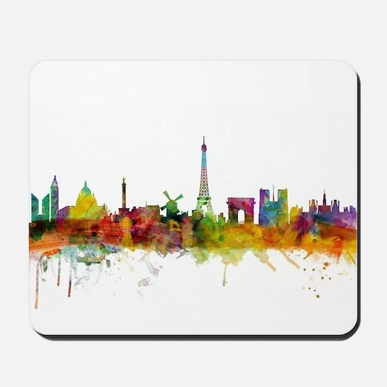 Paris France Skyline Mousepad