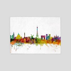 Paris France Skyline 5'x7'Area Rug
