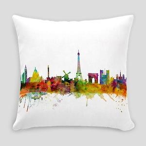 Paris France Skyline Everyday Pillow