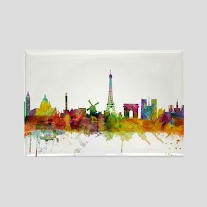 Paris France Skyline Magnets
