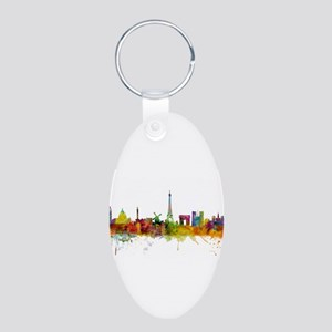 Paris France Skyline Keychains