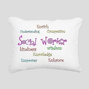 Social Worker  CURLY 201 Rectangular Canvas Pillow