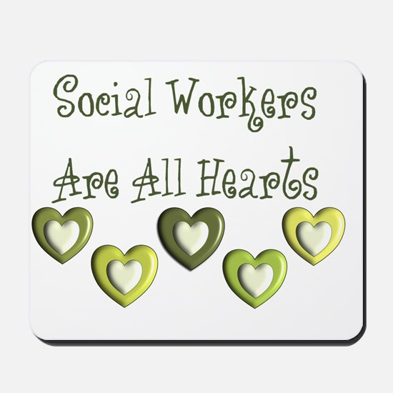 Social Workers Are all hearts Mousepad