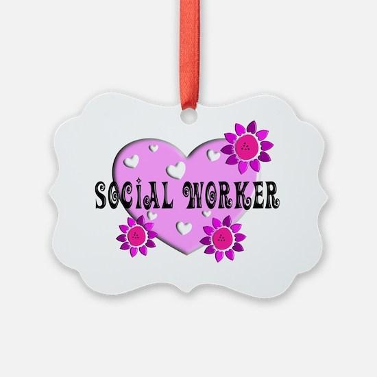 Social Worker BIG PINK HEART 2011 Ornament