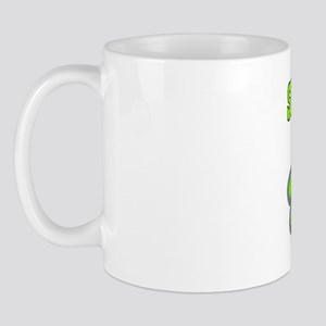 Social Worker BIg Flowers Green Mug