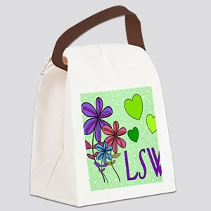 LSW Flowers Canvas Lunch Bag