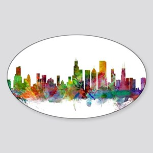 Chicago Illinois Skyline Sticker