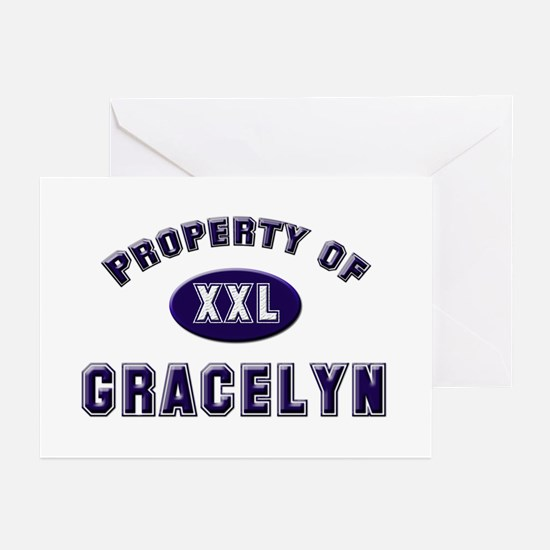 Property of gracelyn Greeting Cards (Pk of 10)