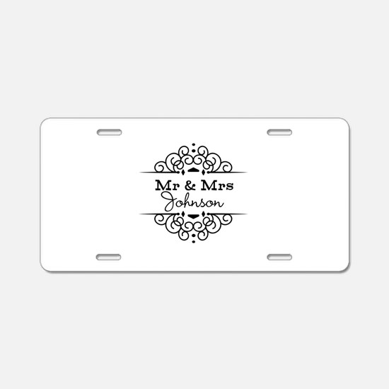 Personalized Mr and Mrs Aluminum License Plate