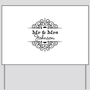 Personalized Mr and Mrs Yard Sign