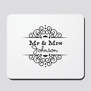 Personalized Mr and Mrs Mousepad