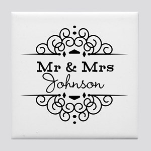 Personalized Mr and Mrs Tile Coaster