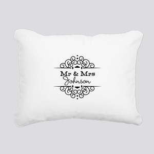 Personalized Mr and Mrs Rectangular Canvas Pillow