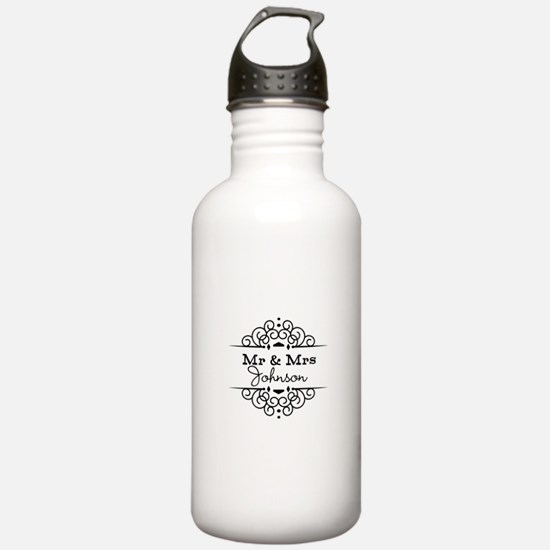 Personalized Mr and Mrs Sports Water Bottle