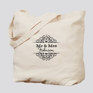 Personalized Mr and Mrs Tote Bag