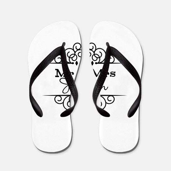 Personalized Mr and Mrs Flip Flops
