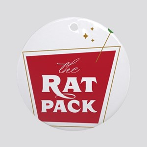 The Rat Pack: drink1 Round Ornament