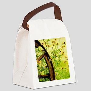 WheelBlackEyedSusans_blanket Canvas Lunch Bag