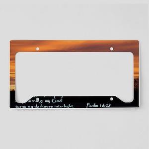 Psalm 18-28 Sunrise License Plate Holder
