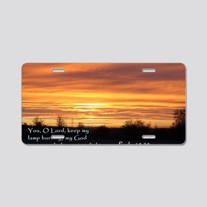 Psalm 18-28 Sunrise Aluminum License Plate