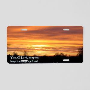 Psalm 18-28 Sunrise Aluminum License Plate
