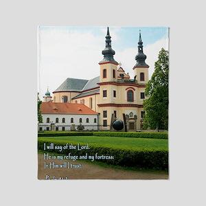 Psalm 91-2 Czech Church Throw Blanket