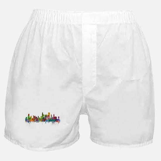 Chicago Illinois Skyline Boxer Shorts