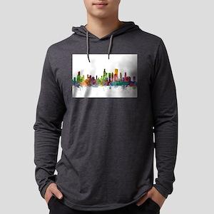 Chicago Illinois Skyline Long Sleeve T-Shirt