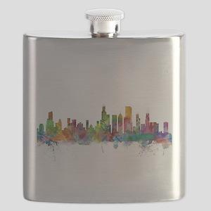 Chicago Illinois Skyline Flask