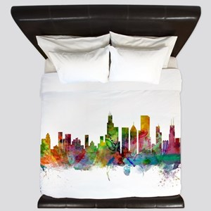 Chicago Illinois Skyline King Duvet