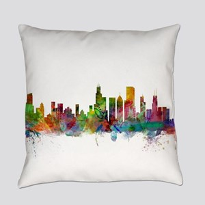 Chicago Illinois Skyline Everyday Pillow