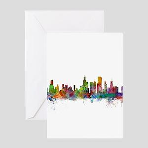 Chicago Illinois Skyline Greeting Cards