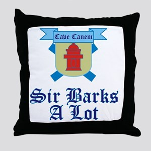 Sir Barks A lot Throw Pillow