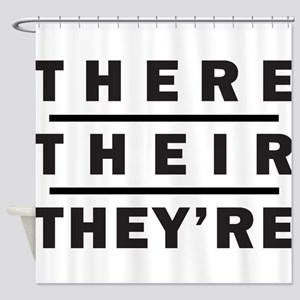 There / Their / Theyre - Grammar Shower Curtain
