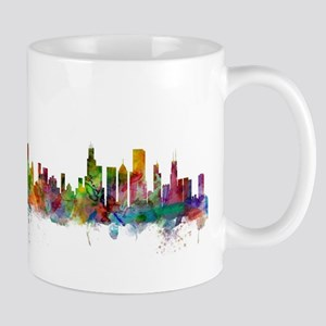 Chicago Illinois Skyline Mugs